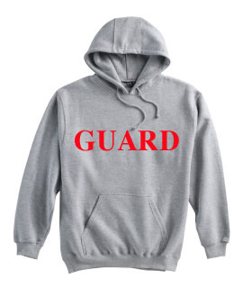Varsity Swim: Lifeguard Hooded Grey Sweatshirt